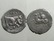 Gela Sicily Silver Litra_Ancient Sicily_Man Faced Bull Swimming