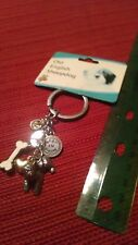 old English sheepdog keychain