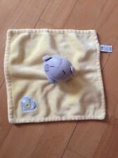 Tiny Tatty Teddy Baby Toddler Comforter Blanket Soother Blankie Dou in Yellow
