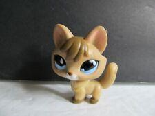 Littlest Pet Shop Rare Tan FOX # 673 Brown With  Blue Eyes