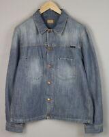 RRP $250 NUDIE JEANS RONNY INDIGO DUNGAREE Men's XX LARGE Denim Jacket 1937*mm
