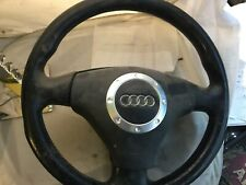 OEM Audi TT 8N0 Black Leather Steering Wheel 2001-2005 # 8N0419091B25D