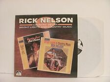 "Vinyl LP Rick Nelson ""Country Fever Bright Lights and Country Music"" 1987 U.K."