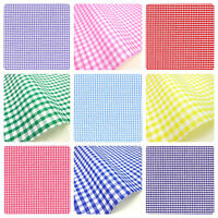 "GINGHAM POLYCOTTON FABRIC 1/8"" CHECK 112CM 44"" WIDE 24HR DISPATCH"