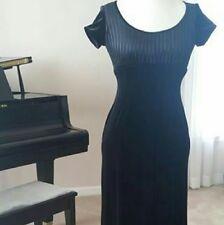 Papell Boutique Evening gown, black velvet stretch, size 4P