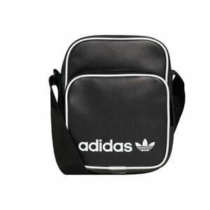 Adidas Mini Vintage Bag Small Shoulder Messenger Airliner Bag DH1006 Black
