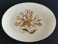 Vintage Handpainted Oval Serving Platter Romany by Kanedai Japan 13""