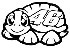 1 stickers valentino rossi ( 56 ), vr46 , autographe, signature, tortue