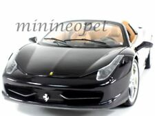 HOT WHEELS ELITE BCJ90 FERRARI 458 ITALIA SPIDER 1/18 DIECAST GLOSSY BLACK