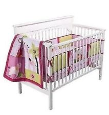NEW Tiddliwinks Sweet Safari Girl Crib Nursery Bedding Set Lion Monkey Elephant