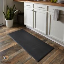 "Kitchen Floor Mat Cushioned Indoor Home Decor No Slipping 20"" x 45"" Vinyl Black"