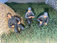 -3 RARE! German Mortar Forces Valor Unimax 21stCentury 54mm-1/32 Painted Figure!