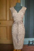 """GORGEOUS PHASE EIGHT """"ESME"""" LACE FITTED EVENING DRESS, SIZE 12"""
