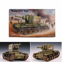 1:35 Scale Soviet KV-2 Heavy Tank Model Assembled Children Toy 8x3.7x3.7 Inch