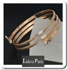 Schlange Armreif Armspange Armband Schlangen Schlangenarmreif  Vergoldet Paris
