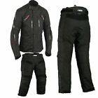 Moto Cordura Textiles Chaqueta Traje de pantalón Impermeable.Mono de Cordura.L