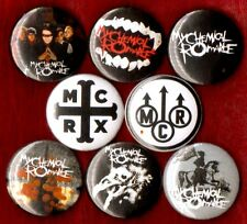 MY CHEMICAL ROMANCE 8 NEW button pin badge MCR EMO stocking stuffer