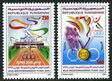 Tunisia 1249-1250, MNH. Mediterranean Games. Track,Stadium, Runners,Medal, 2001