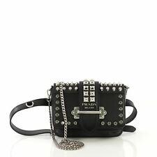 464765b9d2d2 Prada Cahier Belt Bag Studded City Calf with Saffiano Leather Small