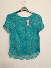 size 10 aqua blue patterned top from Bon Marche BNWT