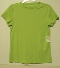 NEW size XS Coldwater Creek short sleeve interlock tee light green shirt knit