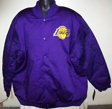 LOS ANGELES LAKERS NBA STARTER Varsity Jacket LAKERS Logos on Sleeves 6X PURPLE