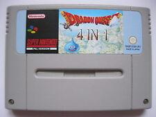 Dragon Quest 1+2 3 5 6 I+II III V VI Warrior Super Nintendo SNES PAL 4in1 !