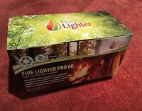Natural Firelighters 2xBoxes=120pieces For Stoves Fireplaces and BBQ