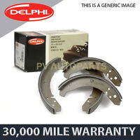 REAR DELPHI LOCKHEED PARKING BRAKE SHOES FOR CHRYSLER GRAND VOYAGER (2000-08)