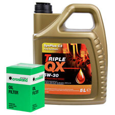 Oil Filter Service Kit With Triple QX Fully Syntetic Plus C3 5W30 Engine Oil 5L