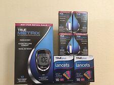 TRUE Metrix Glucose Test Strips 200 CT+ FREE Meter KIT,200Lancets,Lancing Device