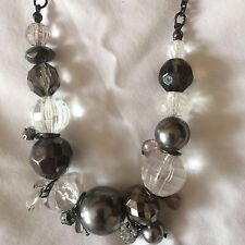 Necklace Grey Cluster