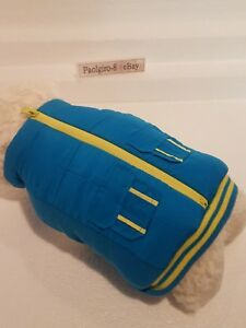TOP PAW for dogs BLUE & YELLOW ZIPPER CARGO VEST Winter Jacket SMALL Pets (read)