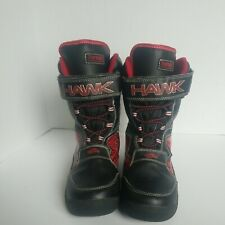 Tony Hawk Thermolite Waterproof Black & Red Snow Boots Size 5