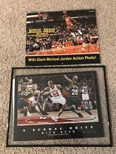 Michael Jordan Memoribilia Lot - Calendar And Framed Rick Rush Lithograph