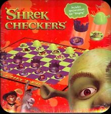 SHREK CHECKERS - TIN SET - CARD GAME - FACTORY SEALED NEW - HARD TO FIND SEALED!