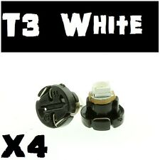 4PC X White T3 8mm Neo Wedge SMD LED Twist Lock Dash Switch Cluster Light Bulb