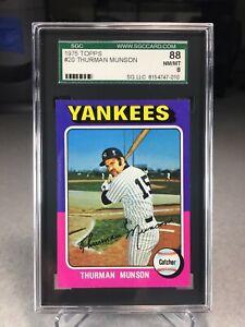 1975 Topps Thurman Munson #20 - SGC 8 - New York Yankees