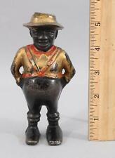 Antique AC Williams Black Americana Man Sharecropper Farmer Cast Iron Still Bank