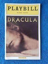 Dracula - Belasco Theatre Playbill - November 2004 - Tom Hewitt - Melissa Errico