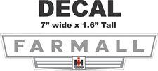 1 Gray International Harvester IH Tractor Farmall Vinyl Decal