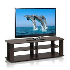 Dark Brown Tv Stand Media Entertainment Center Sturdy 42 50 60 Inch Flat Screen
