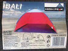 High Peak Bali Strandmuschel 200 x 100  Windschutz Zelt Muschel Sonnenschutz NEU