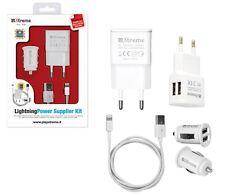 Kit alimentazione Iphone 5 Ipad mini Ipad casa - auto 2A doppia usb cavo 1 mt