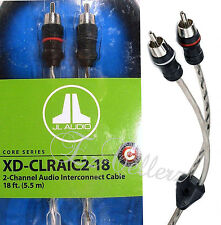 Jl Audio Xd-Clraic2-18 2-Channel Rca 18-Foot Cable 18Ft Audio Interconnect New