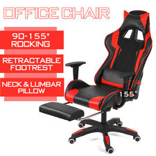 Heavy Duty Office Chair High Back Recliner Footrest Gaming Chair Swivel Leather