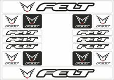 FELT Mountain Bicycle Frame Decal Stickers Graphic Adhesive Vinyl White 16 Pcs