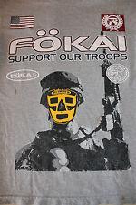 Fokai Support Our Troops Men's Gray Shirt Size Small Guam Guahan Hafa Adai