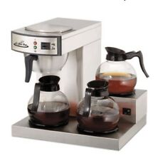 Coffee Pro CP-RLG 3 Burner SS Low Profile Institutional 36 Cup Coffee Maker NEW