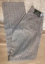 LUCKY BRAND LADIES DUNGAREES BROWN AND BLUE CORDUROY SIZE 2 / 26 WAIST RARE